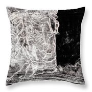 Self In Black Coloured Oil Transfer Drawing 11 Throw Pillow