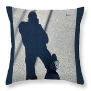 Self Portrait 19 - Balancing With My Shadow Throw Pillow