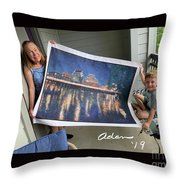 Self Portrait 21 - Finding Stored Treasures Throw Pillow