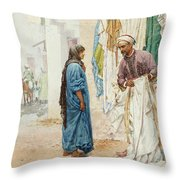 Selling The Gown Throw Pillow