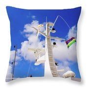 Semi-large Ship's Radar Tower And Headlights. Throw Pillow