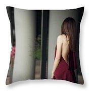 Sensual Lady Throw Pillow