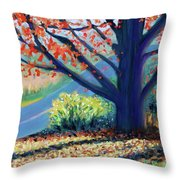 Sentinel By The Road Throw Pillow