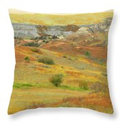 September In The Realm Of West Dakota Throw Pillow