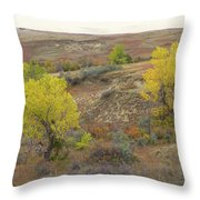 September Trees Reverie Throw Pillow