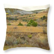 September's Golden Treasure Throw Pillow