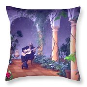 Sergovia In A Spanish Garden Throw Pillow
