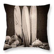 Seventies Surfing Throw Pillow