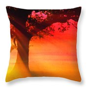 Shade Tree At Dawn Throw Pillow