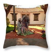 Shadow Of The Cross Throw Pillow by Howard Bagley