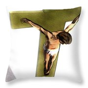 Shadow Of The Cross Throw Pillow