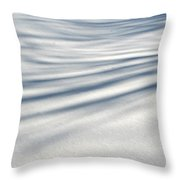Shadows In The Snow Abstract By Artist4god Throw Pillow by Rose Santuci-Sofranko