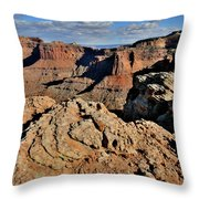 Shafer Canyon In Canyonlands Np Throw Pillow