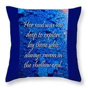 Shallow End Throw Pillow