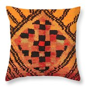 Shaman Tribal Badge Throw Pillow