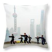 Shanghai Morning Tai Chi Throw Pillow