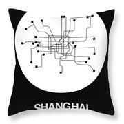 Shanghai White Subway Map Throw Pillow