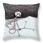 Sharing Her Heart Throw Pillow