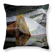 Shawanaga Rock And Reflections I Throw Pillow