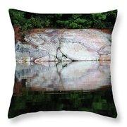 Shawanaga Rock And Reflections Iv Throw Pillow