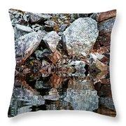 Shawanaga Rock And Reflections Vi Throw Pillow
