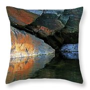 Shawanaga Rock And Reflections Xi Throw Pillow