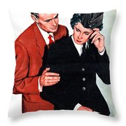 She Is Going Away Throw Pillow