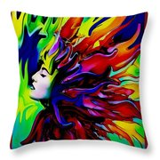 She Transcends Throw Pillow