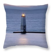 Shining Light Throw Pillow by Fran Riley