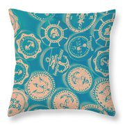 Ship Shape Nautical Designs Throw Pillow