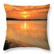 Shoreline Sunset Throw Pillow