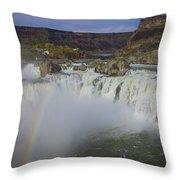 Shoshone Falls Rainbow Throw Pillow