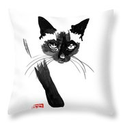 Siamese 4 Throw Pillow