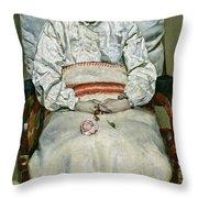 Sick Girl, 1881 Throw Pillow