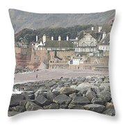 Sidmouth Sea Front Throw Pillow