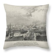 Siege Of The Citadel Of Antwerp Throw Pillow