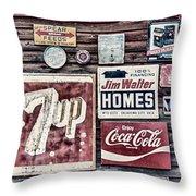 Signage II Throw Pillow