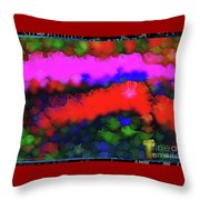 Silk-featherbrush Number 3 - Symphony Of The Wandering Refugees Throw Pillow