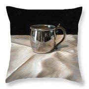 Silver Cup Throw Pillow