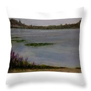 Silver Lake During The Wildfires Throw Pillow by J Reynolds Dail