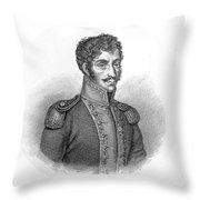Simon Bolivar Venezuelan Statesman, Soldier, And Revolutionary Leader Throw Pillow