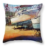 Sisters On Stilts Throw Pillow