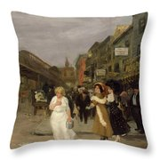 Sixth Avenue And Thirtieth Street, New York City, 1907 Throw Pillow