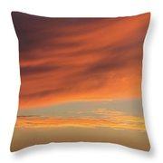 Skies Of Orange Throw Pillow