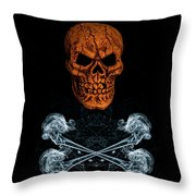 Skull And Crossbones 1 Throw Pillow