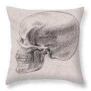Skull Study Profile Throw Pillow