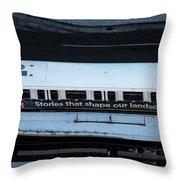 Skytrain Wagon  Throw Pillow by Juan Contreras
