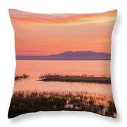 Sleeping Lady Sunset Throw Pillow