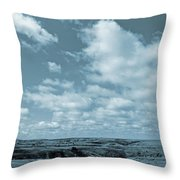 Slope County And Sky Throw Pillow