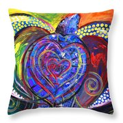 Sloppy Sea Turtle Love Throw Pillow